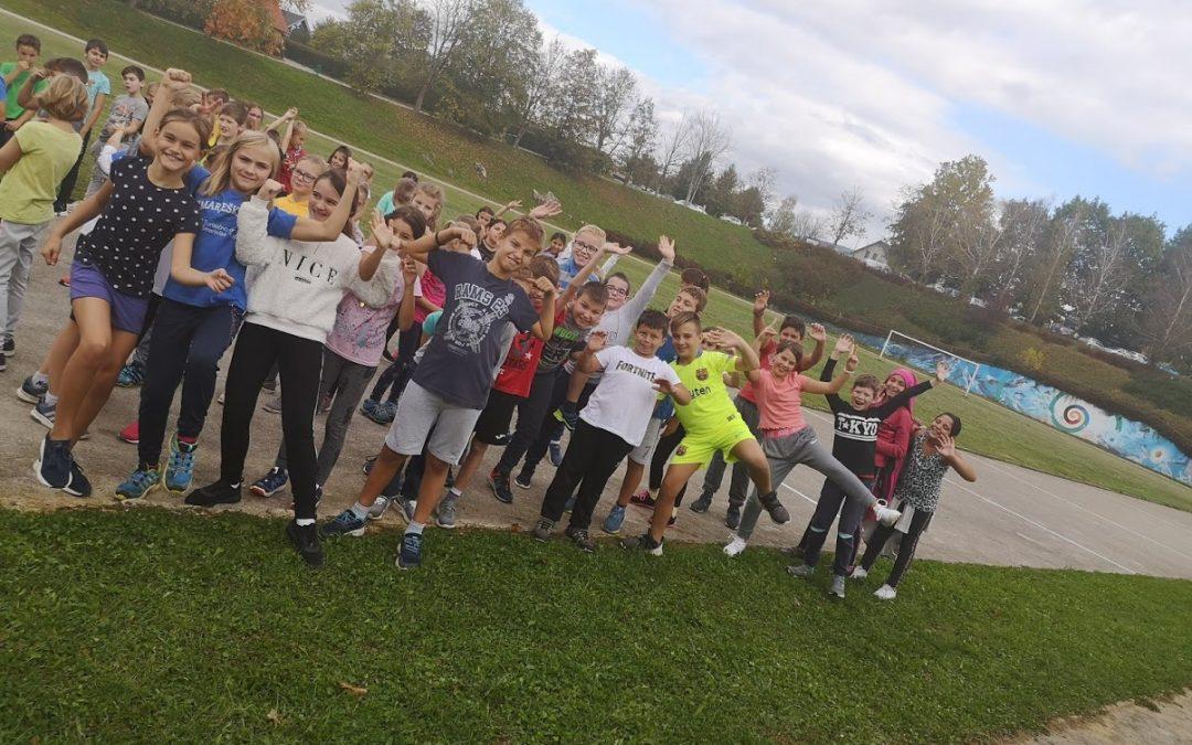 Četrtošolci so imeli športni dan